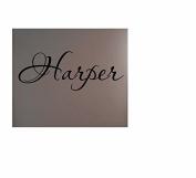 Harper Rubber Stamps custom stamps rubber first name child name kid name girl name nickname surname