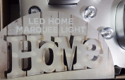 20 Home White Warm LED Marquee Lights Word colours Black
