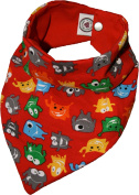 Teeth Monster Red Waterproof 2 In 1 Reversible Towel Head Scarf