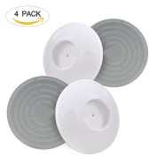 Wall Guard Pads Ecooltek 4 Pack Safety Wall Cup Protectors Easy Installation Protect Door Stair Wall Surface for Child, Baby, Pet, Dog Pressure Gates
