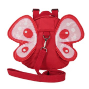 Babyhugs® Baby Toddler Safety Harness and Backpack and Reins - Red Butterfly with Cute Wings