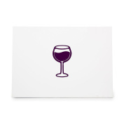 Wine Glass Style 6346, Rubber Stamp Shape great for Scrapbooking, Crafts, Card Making, Ink Stamping Crafts