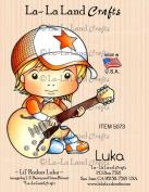 La-La Land Crafts Lil' Rocker Luka Rubber Stamp