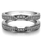 0.5 ct. Diamonds (G-H,I2-I3) Cathedral Ring Guard Enhancer in 14k White Gold (1/2 ct. twt.)