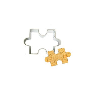 OUMOSI Puzzle Shape Cookie Cutter Stainless Steel Biscuit Pastry Mould Lot of 2