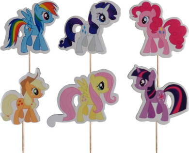 My Little Pony Cupcake Pick Toppers (Pack of 24)