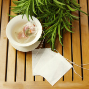 100 X Seal Tea Filter Empty Tea Bags with Disposable Drawstring for 100 Pcs