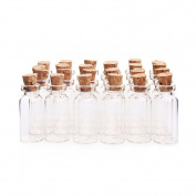 2ML 16x35mm Tiny Empty Clear Cork Glass Bottles Vials with Corks Miniature Glass Bottle Small Glass Mini Bottles with Cork Top for DIY, Arts,Crafts,Decoration,Party Favours
