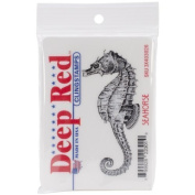Deep Red Stamps Seahorse Rubber Stamp Model
