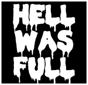 New Black Sticker Hell Was Full Funny Goth Gothic Punk Metal Horror Satanic Evil