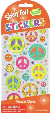 Peaceable Kingdom Shiny Foil Peace Signs Sticker Pack
