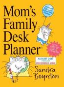 Mom's Family Desk Planner Calendar 2018