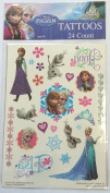 Disney Frozen Queen Elsa Anna and Olaf Glitter Tattoos - 24 Count
