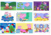 9 Peppa Pig stickers, Birthday, Scrapbooking, Crafts, Gifts, party supplies, favours, labels, Decorations