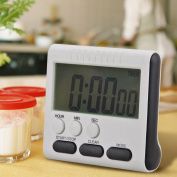 Large LCD Display Digital Magnetic Kitchen Cooking Timer Alarm Count UP Down Clock with foldable Stand