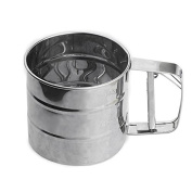 Stainless Steel Flour Shaker Baking Tools for Cake Pizza Cupcake Cocoa Powder Icing Cappuccino Coffee Sifter