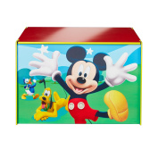 HelloHome Mickey Mouse Toy Box, Wood, multicolour
