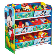 HelloHome Mickey Mouse Kid's Storage Unit, Wood, multicolour