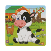 Learning Puzzles Toys, Welcomeuni Wooden Dairy Cow Jigsaw Toys For Kids Education