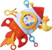 HABA Rocket Teether Cuddly - Machine Washable Plush Activity Toy with Teething Elements