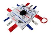 Sensory Baby Tag Blanket, Hockey Blanket 10 x 10 Lovey