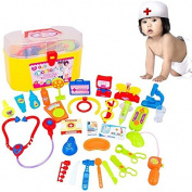 30Pcs Kids Doctor Nurse Medical Role Play Case Baby Kit Educational Toy Set