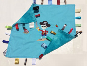 Yo Ho Ho ~ Pirate Cuddle Blanket with Ribbon Tabs