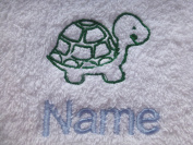 Face Cloth, Hand Towel, Bath Towel or Bath Sheet Personalised with TURTLE logo and name of your choice