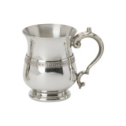 Edwin Blyde & Co Children's Can - Classic Georgian Shape with Celtic Wire And Georgian handle, Pewter