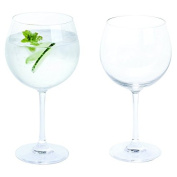 Bar Amigos® Everyday Classic Essentials Copa Gin and Tonic Glasses | G & T Cup Large stemmed Balloon Glass | Lead Free Crystal | Dishwasher safe | 650ml - Pack of 2