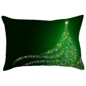 Saingace Christmas Car Pillow Case Rectangle Sofa Waist Throw Cushion Cover Home Decor