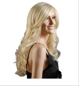 "Wigs 75cm / 30"" Women's Hair Wig Fashion Long Big Wavy Heat Resistant Light Blonde Wig for Cosplay Party Costume"