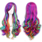 "Wigs 70cm / 28"" Women's Hair Wig New Fashion Long Big Wavy Hair Heat Resistant Multi Colour Wig for Cosplay Party Costume My Little Pony"