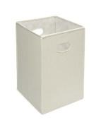 Badger Basket Folding Hamper and Storage Bin, Ecru by Badger Basket