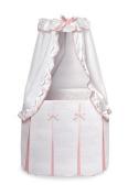 Badger Basket Majesty Baby Bassinet with Canopy, White/Pink by Badger Basket