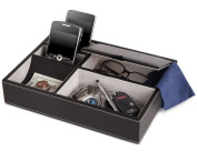 5 Compartment Leatherette Organiser Box for Wallets, Coins, Keys, and Jewellery WG015