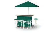 Best of Times Patio Bar and Tailgating Centre Deluxe Package- Classic Green