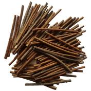 MAIYUAN 13cm Long 0.1-0.5cm in Diameter Wood Log Sticks for DIY Crafts Photo Props