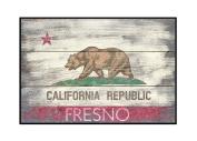 Fresno, California - Barnwood State Flag