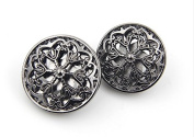Hollow Flower Metal Shank Buttons for Fashion Coats