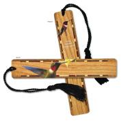 Ruby-throated Hummingbird - Bird - Wooden Bookmark with Tassel
