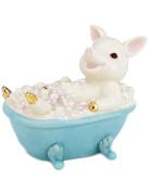 Lenox Bubble-time Pig In Bathtub Figurine