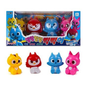 New Korean animated tv Series MINI FORCE Soft Toy 4Pcs - Animal Superhero Action Animation Comedy
