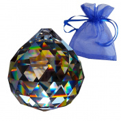 Crystal ball ø 40mm in gift bag - Rainbow crystal - Esoteric - Crystal glass - Exclusive