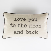 Sass and Belle Rustic Cotton/Linen Cushion Love you to the Moon and Back