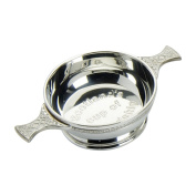 Edwin Blyde & Co Quaich Embossed Scotland Cup of Friendship Celtic Handles, 10cm , Pewter