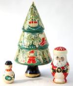 Fantastic 3 Piece Christmas Tree Russian Doll set