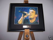 Robbie Williams Framed Autograph Photo Music Memorabilia