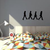 The Beatles - DIY easy to apply wall vinyl sticker fun and cool for home improvement and decorations makes the perfect gift.