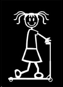 Official My Stick Figure Family Car Window Vinyl Sticker Girl Scooter G5